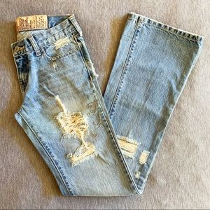 Hollister | Distressed Flare-legged Jeans -Size 1R